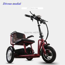 2019Free shipping Electric tricycle scooter adult home new folding small mini disabled(China)