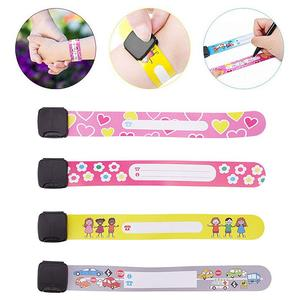 Reusable Adjustable Safety Wristbands Bracelets for Kids Child Travel Event Field Trip Outdoor Activity Waterproof(China)