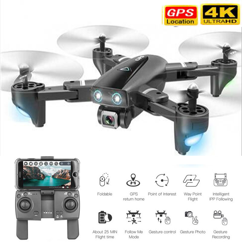 Best GPS Drone With 4K Camera RC Quadcopter Drones Optical flow WIFI FPV Foldable Off-Point Flying Photos Video Dron Helicopter