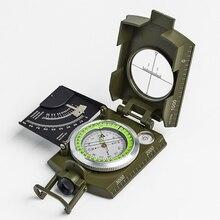 Многофункциональный металлический геологический компас, Водонепроницаемый Флуоресцентный компас, пузырьковый уровень, инструменты для выживания на открытом воздухе, кемпинга, туризма