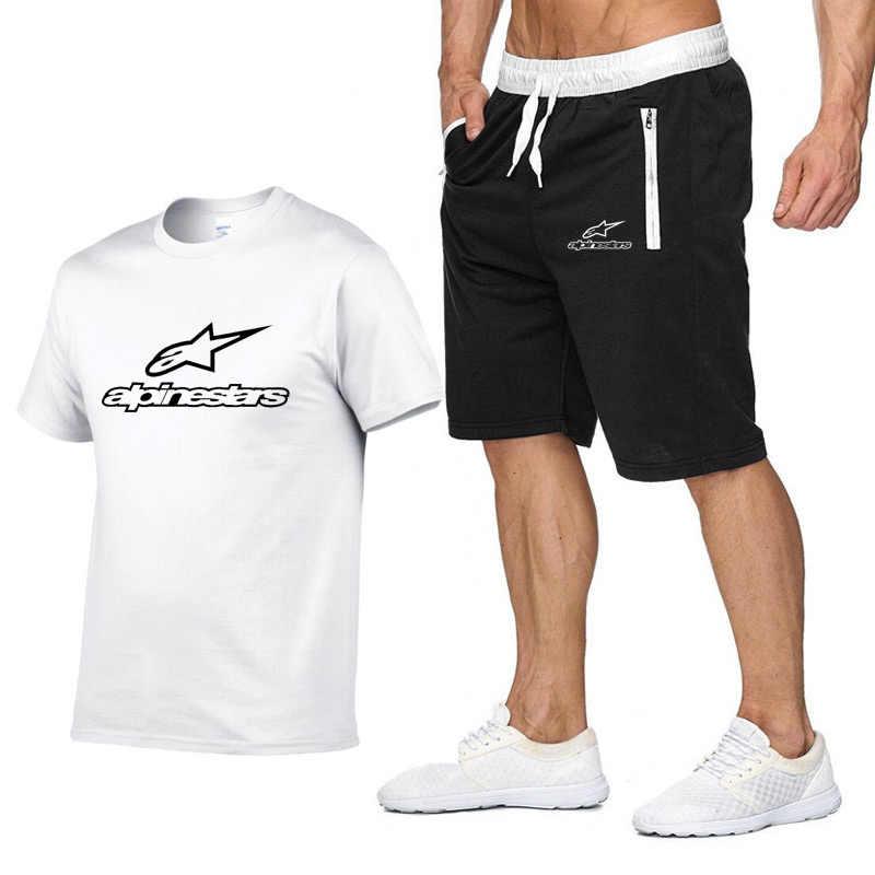 2020 패션 t-셔츠 반바지 세트 남자 여름 2pc Tracksuit + 반바지 세트 비치 망 캐주얼 티 셔츠 세트 Sportswears