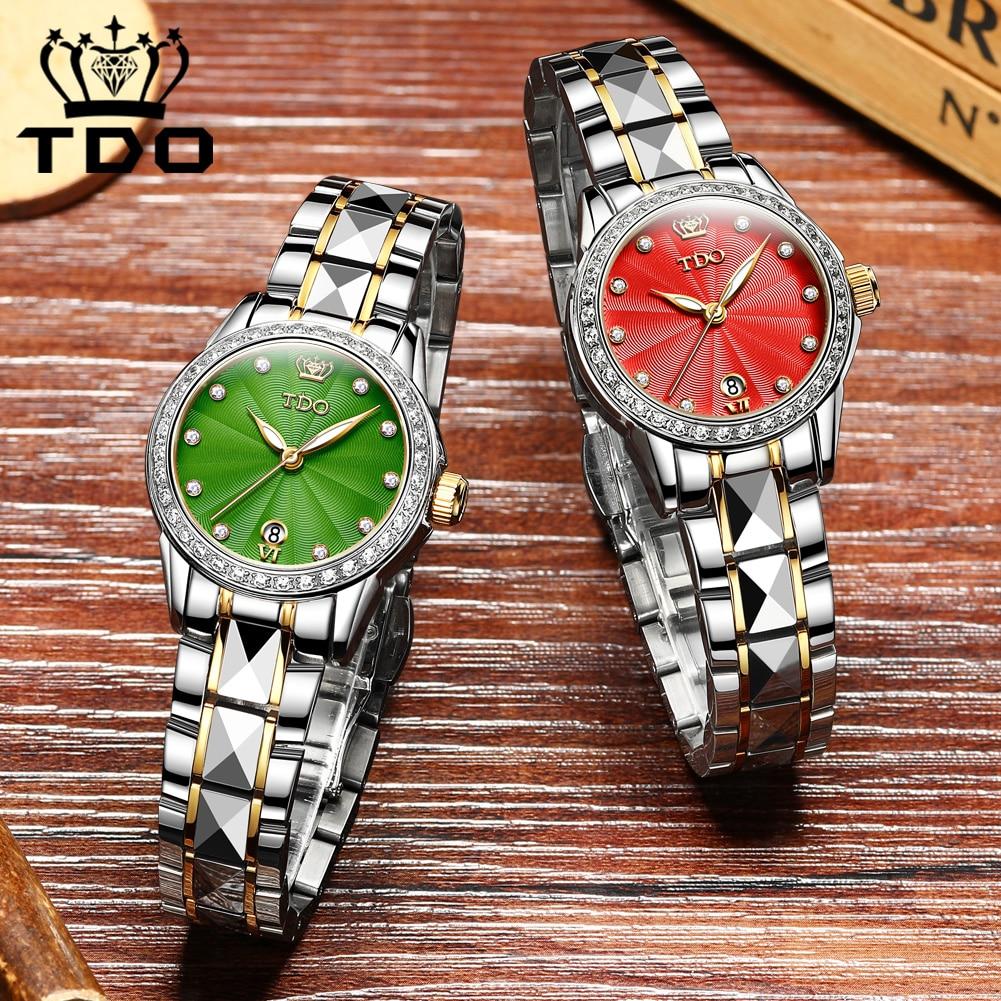 Fashion Women's Watches Top Brand Luxruy OLEVS Automatic Watch Women Waterproof Sport Clock Ladies Leather Business Wrist Watch