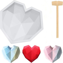 Candy-Mold Dessert Mousse Love-Chocolate-Moulds Diamond Wedding-Baking Heart-Shape Chiffon