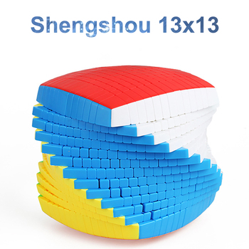 Shengshou 13x13x13 Cube stickerless 128mm Pillow Cubes Speed Magic Puzzle SengSo 13x13 Educational Cubo magico Toys shengshou brand 5x5x5 magic cube professional speed magic cube children educational toys magico cubo rubic cube