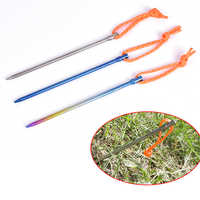 16.7cm Titanium Alloy Tent Peg Titanium spike Outdoor Camping with Rope Tent Stake Diameter 5.0mm Tent Accessory nail Equipment