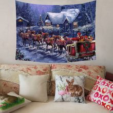 Christmas Xmas Tapestry Hippie Room Bedspread Wall Hanging Throw Blanket New product Selling winter Dropshipping Accessories too(China)