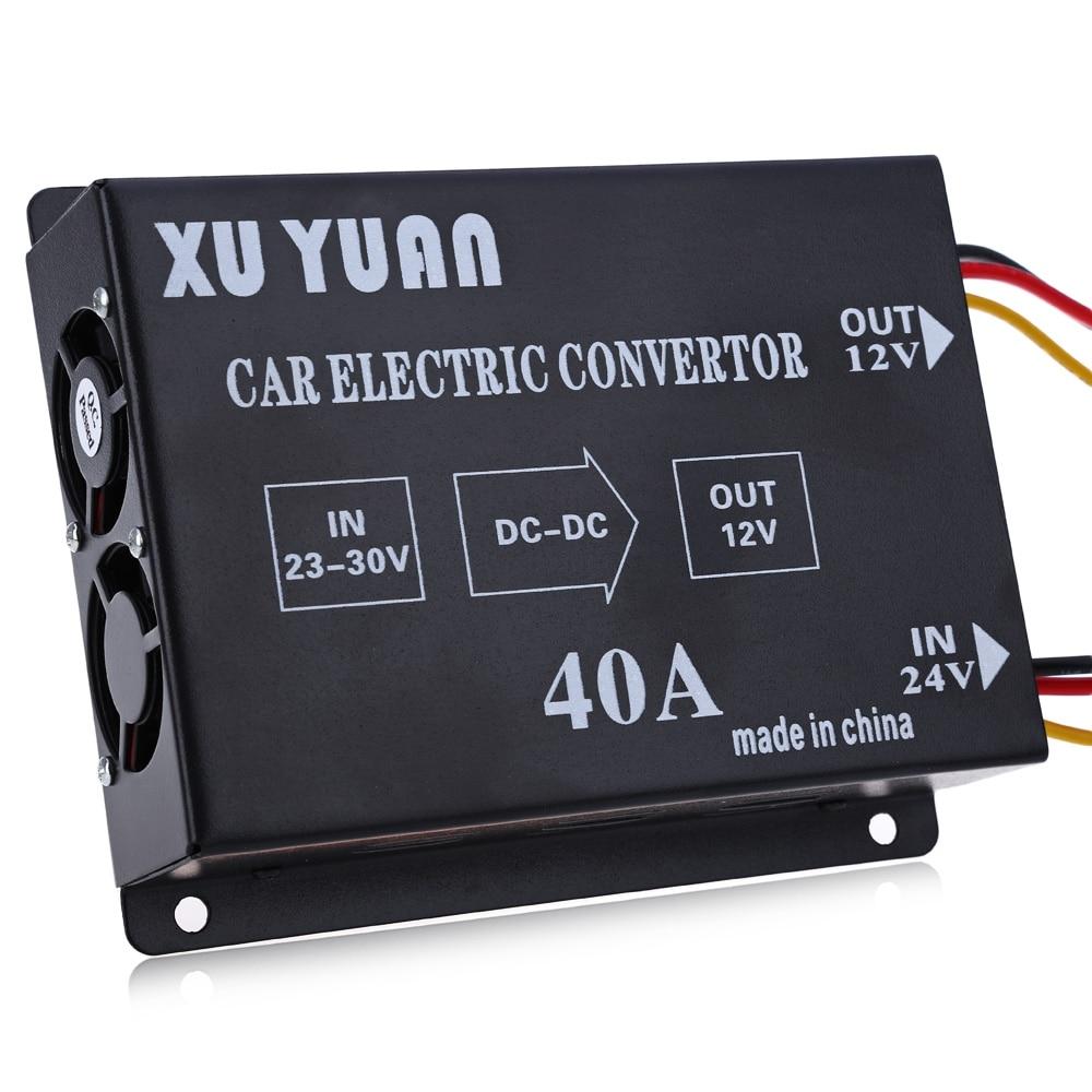 OllyMurs 40A DC 24V to 12V Voltage Reducer Car Power Supply Transformer Stabilizer Step down electric convertor XL-54