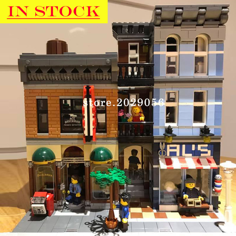 15011 Detective Office Street View Creator Series Building Blocks Toys Compatible With Bela 10246 17006 71044 21318 45014 15019