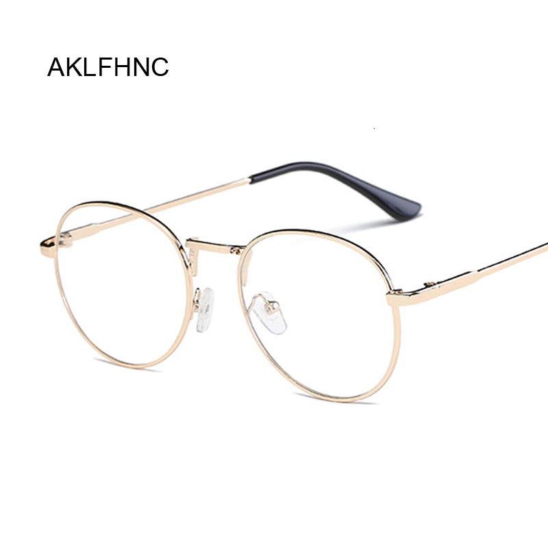 Fashion Clear Glasses Frame For Women Men Vintage Round Eye Glasses Female Plastic Transparent Optical Glasses Frames