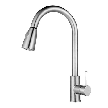 High Faucet Tap Stainless Steel Hot Cold Mixer Pull Out Modern for Home Kitchen Sink LG66