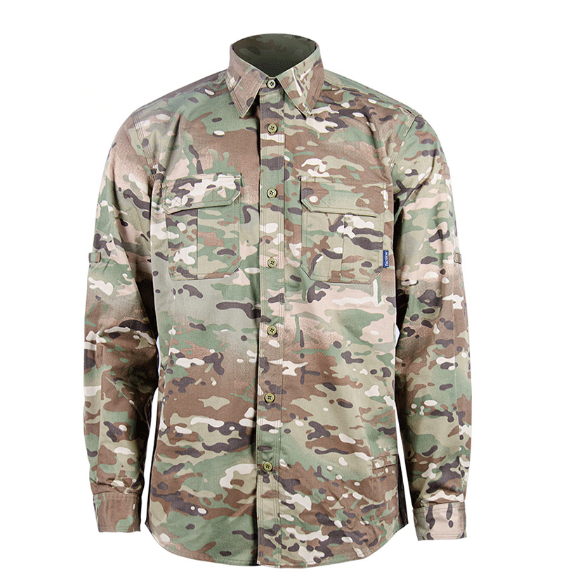 Tactical Camouflage Military Shirt Multi pocket Thick Shirt Outwear Working Clothing Dropshipping