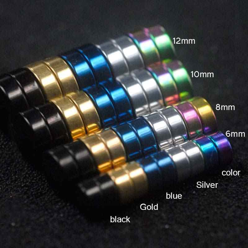 Nuovo 1PC Cerchio Orecchio Clip di Forte Magnete Magnetico Circa 6mm/8mm/10mm/12mm 5 Colori Mens Donne Orecchini Non Penetranti Dei Monili del Regalo