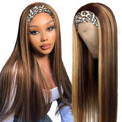 Beaudiva Straight Hair Headband Wig Human Hair 10-28 Inch Brazilian Hair Wigs For Black Women Full Machine Made Wig 150% Density
