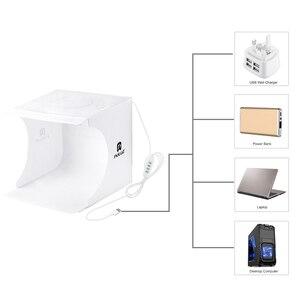 Image 3 - Cadiso Mini สตูดิโอไฟ LED Photo Light สีขาวกล่องแหวนพับแบบพกพา Lightbox ถ่ายภาพเต็นท์ Kit สำหรับถ่ายภาพ