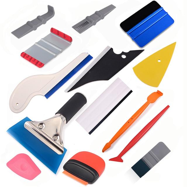 Foshio Carbon Fiber Vinyl Film Wrap Auto Accessoires Kit Auto Raam Verven Schraper Magneet Sticker Zuigmond Auto Reparatie Tools