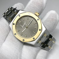 Fashion luxury QUARTZ watch sapphire glass AAA quality 33mm women size 18K gold case gray dial Royal ladies Watches