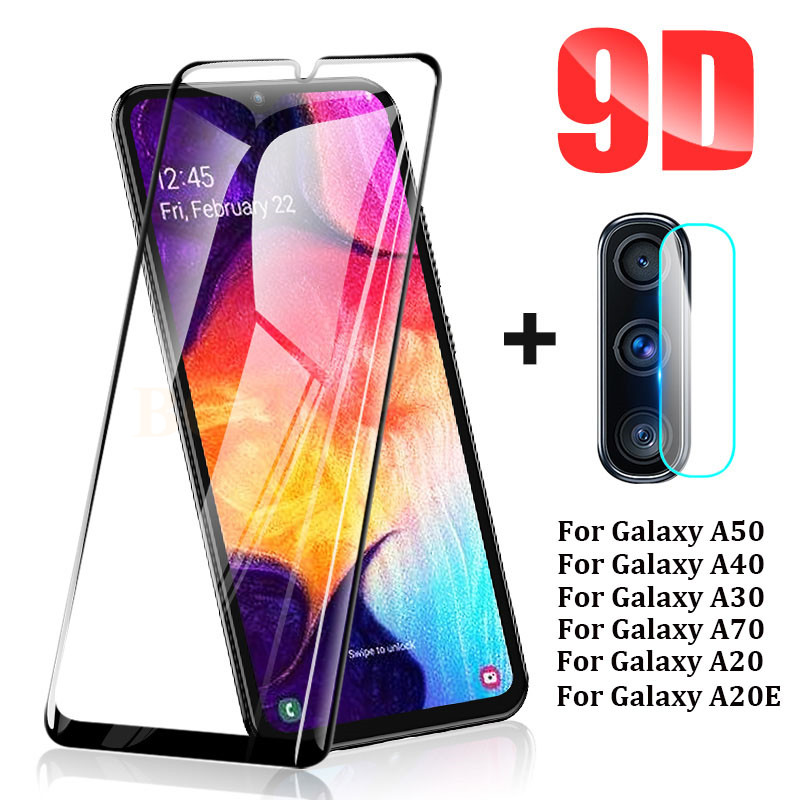 9D Tempered Glass On For Samsung Galaxy A50 A10 A20e A30 A40 A60 A70 Camera Screen Protector For Samsung A90 M10 M20 M30 Glass