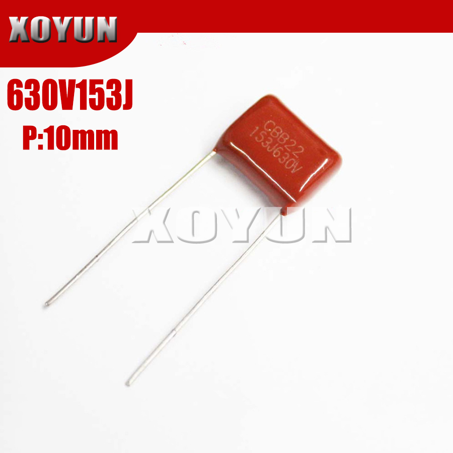 10PCS 630V153J 153J630V Pitch 10MM 630V 153J 15NF CBB Polypropylene Film Capacitor