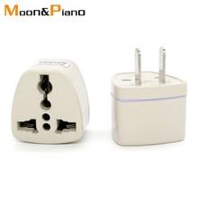 цена на High Quality gray Universal UK EU AU IT Converter to US USA 2 Pin AC Travel Power Plug Transform Charger Adaptor Connector
