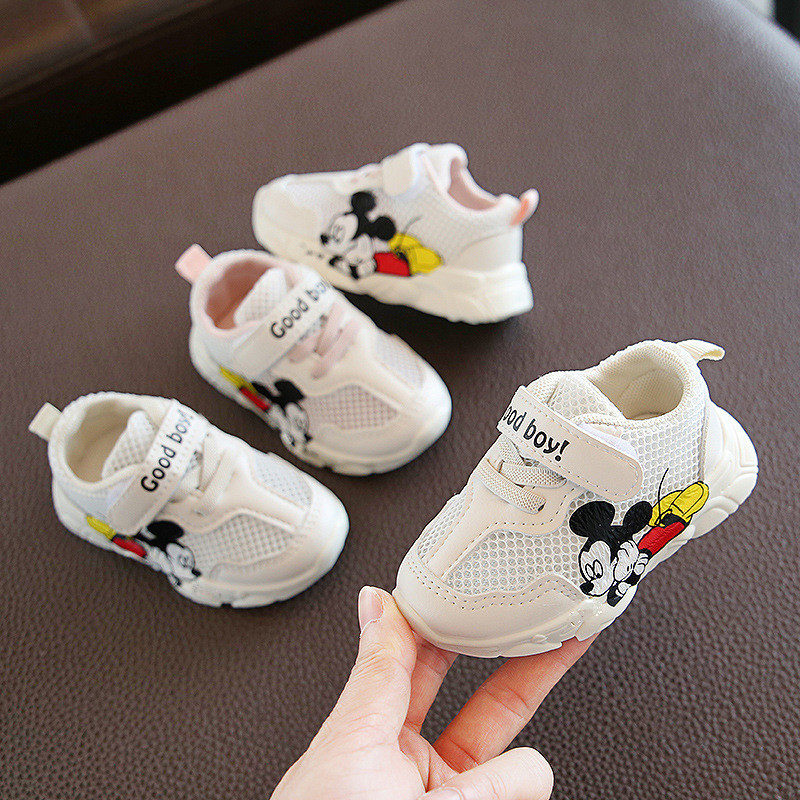 2020 New Baby Summer Sneakers Girls Casual White Shoes 1 Years Old Boy Shoes Infant Toddler First Walkers Tennis Shoes