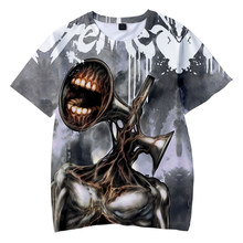 SCP Horror Game Street Shooting Men's and Women's T-shirts Summer Hip Hop Boys and Girls Tshirts Siren Head 3D Printing Tshirts