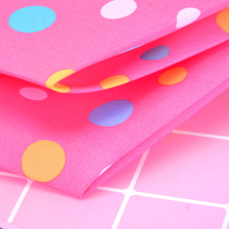 Yu Bao Block Rain Pongee New Style Umbrella Manual Three Fold Ultralight Dots Umbrella Customizable
