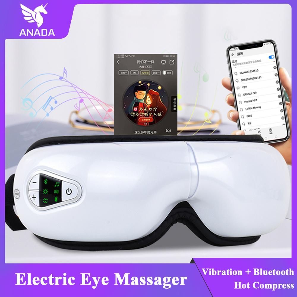 ANADA Wireless Eye Massager Air Compression Eye Massage With Music Smart Eye Massager Anti Wrinkles Eyes Massage Eye Care Tool