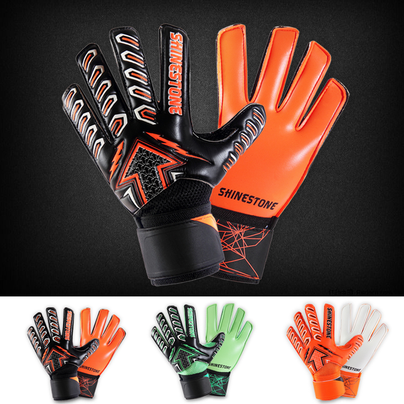 Adults Size Soccer Goalkeeper Gloves Professional Thick Latex Soccer Goalie Glov
