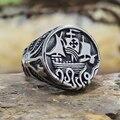 Винтажные готические мужские кольца викингов из нержавеющей стали, уникальные кольца в виде осьминога, щупальцы, пиратского корабля, сканд...