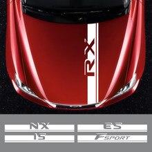 Autocollants pour capot de moteur de voiture, pour Lexus RX 300 IS 250 GX 400 UX 200 NX LX LS GS ES CT200h Fsport, accessoires
