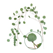 2m Artificial Eucalyptus Leaves Vine Plant Leaves Garland Home Garden Wall Wedding Party Table Decoration Green