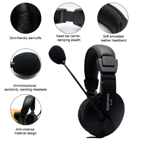 Image 3 - Stereo Bass Computer Gaming Headset On ear Wired Headphone 3.5mm AUX Earphone With Microphone For PC Phone Computer Game Skype