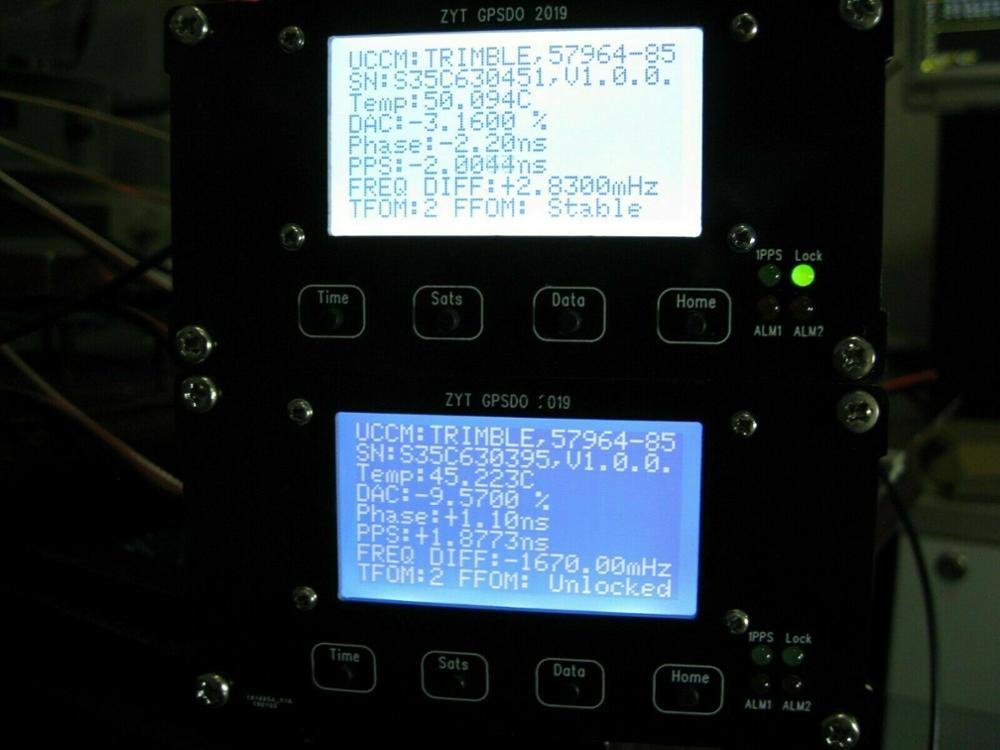 Free Shipping Trimble LCD GPSDO 10MHz 1PPS OCXO GPS Disciplined Oscillator 2019-5-8 UTC Time
