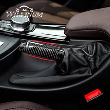 Hamulec ręczny zestaw dla BMW f20 f30 f32 f34 f35 f48 e90 samochodu pokrowiec na hamulec ręczny osłona z włókna węglowego antypoślizgowe poślizgu Auto hamulec postojowy tanie tanio DWVVSL 15cm carbon fiber Uchwyty hamulca ręcznego 0 2kg Hand Brake Set 2010-2020 Iso9001 WI1625 1 pcs For BMW F20 F30 F32 F34 F35 F48 E90