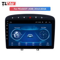 IPS 2.5D Screen 9 inch Android 8.1 Car Stereo for 2010 2016 PEUGEOT 308 408 GPS Navigation