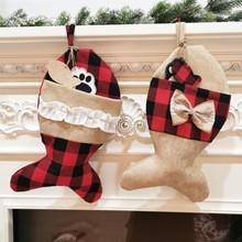2020 New Christmas Home Decor Stockings Pet Socks Christmas Socks Gift Bags