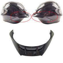 Alerón de aspecto de fibra de carbono para casco de motocicleta, accesorios para casco de moto de cara completa, para Sta GP R/GP RR