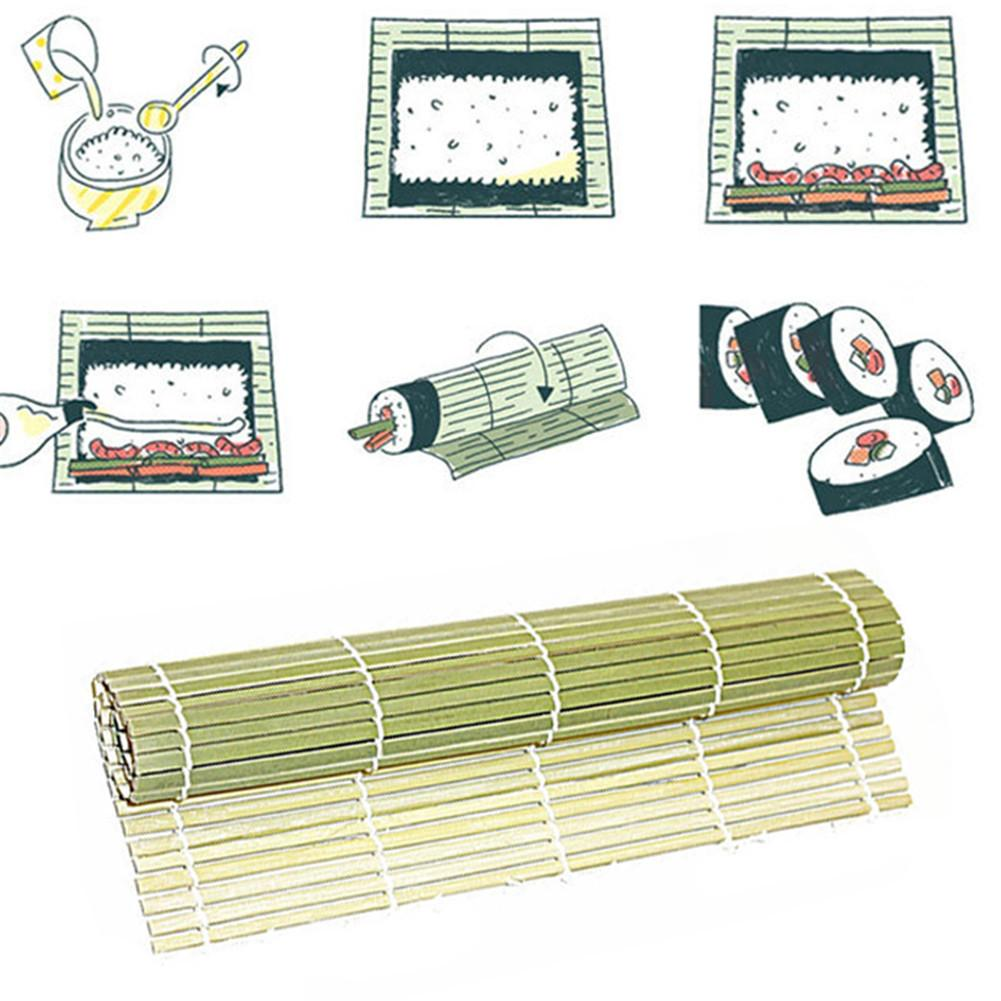 27*27cm Bamboo Sushi Mat Sushi Roller Rice Paddles Tools Sushi Maker Kitchen Utensils Cooking Accessories For Home Hotel image