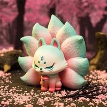 Blind Box Fox Toys Anime Model PVC Animal Figure Ancient Nine Foxes Elf Fairy Series Doll Guess Bag Cute Birthday Gifts