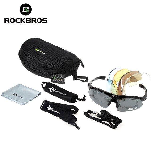 Rockbros ciclismo óculos polarizados 5 lente da bicicleta de estrada ciclismo óculos ciclismo mtb mountain bike ciclismo óculos 4