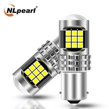 NLpearl 1x Signal Lamp 1156 P21W BA15S Led PY21W BAU15S Turn Signal Lights 3030SMD P21/5W BAY15D 1157 Led Reverse Brake Lamp 12V