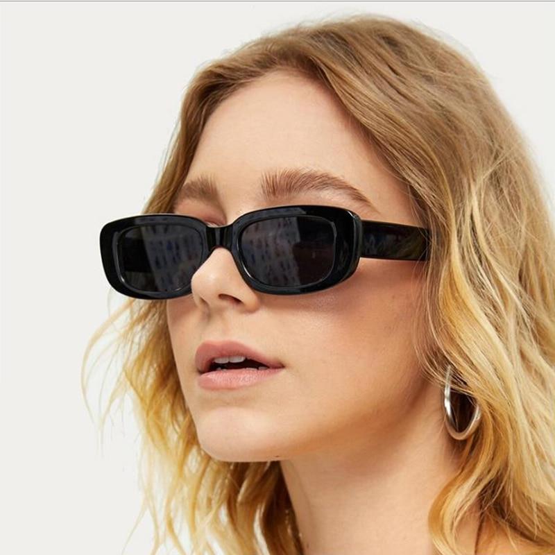 CURTAIN New Female Small Frame Sunglasses Women Square Jelly Color Frame Fashion Street Shot Sun Glasses Eyeglasses Men Gafas|Women