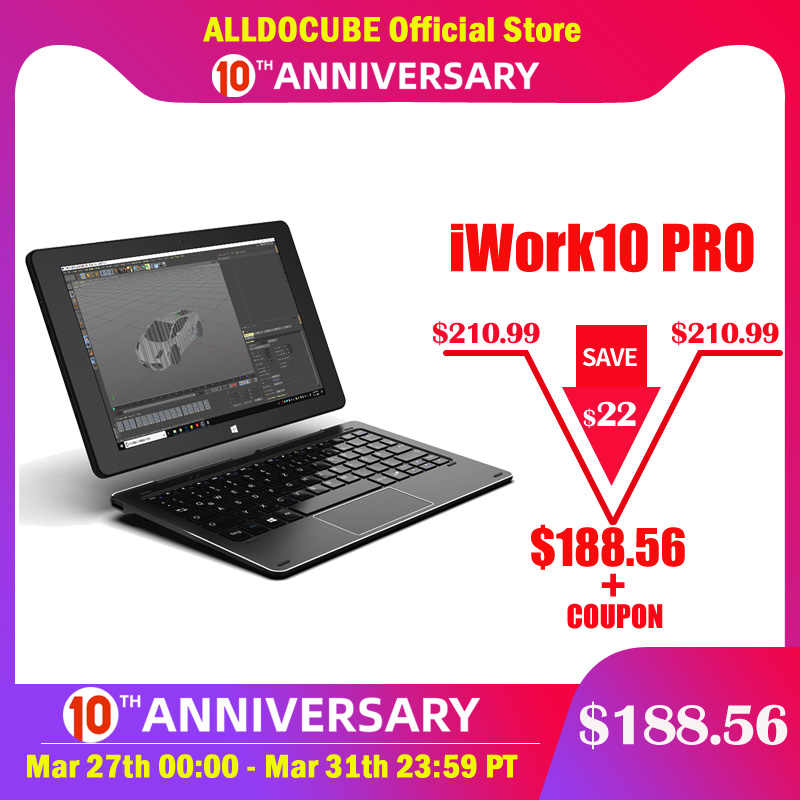 ALLDOCUBE iWork10 Pro Windows tablette 10.1 pouces 4 go de RAM 64 go ROM Intel Atom Windows 10 Android 5.1Quad-core HDMI Dual Sys