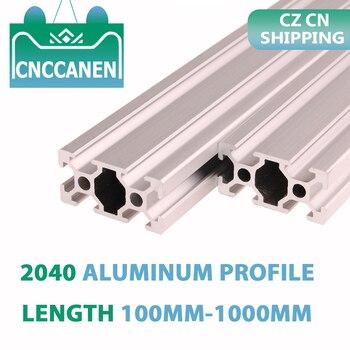 CZ CN Shipping 2PCS 2040 Aluminum Extrusion Profile 100mm-1000mm Length European Standard Anodized for CNC 3D Printer Parts DIY - sale item Hardware
