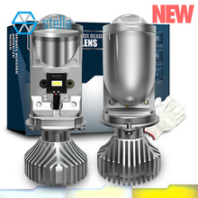 Stella turbo led h4 H19 far için 3 renk değiştirme projektör ışık ampuller arabalar için lamba lensler 3000 için k 4300k 6000
