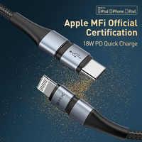 BMX MFi USB di Tipo C per il iPhone 11 Cavo Cavo di Ricarica Veloce PD 18W Tipo C Cavo per iPhone 11 Pro AirPods iPad Filo di Carica del Cavo