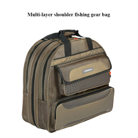 Bolsa de equipo de pesca gruesa de tres capas de dos capas de senderismo al aire libre mochila de viaje bolso de hombro deportivo Bolsas de pesca    -