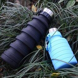 Rowerowe przenośne butelki sportowe przyjazne dla środowiska wspinaczka górska składany czajnik wielokolorowy w nowym stylu silikonowa woda Bo| |   -