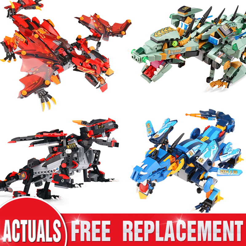 RC Ninja Mech Dragon Firstbourne Stormbringer Compatible LeSet <font><b>70612</b></font> 70652 70653 Ninja Building Blocks Bricks Toys Gifts image