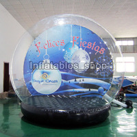 Free Shipping Free Pump 4m outdoor snow globe inflatable decorations,inflatable human size christmas snow globe